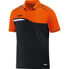 Jako Polo Competition 2.0 black-neon orange 19