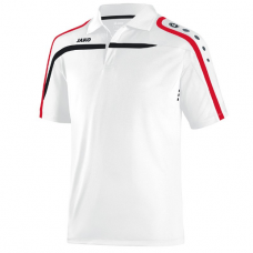 Jako Polo Performance white-black-red 00