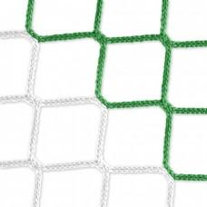 Goal net (green-white) - 5 x 2 m, 4 mm PP, 80 150 cm
