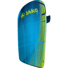 Jako Shin guard Competition Light neon green-navy- blue 18