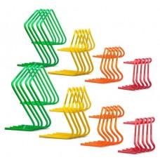 10 Mini hurdles 15cm - XXL - width 60 cm orange