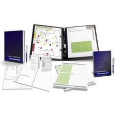 FOOTBALL - TRAINER SET 2 (Tactic Binder Workbook Notebook Notepad Game Observation Sheets)