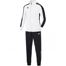 Jako Polyester tracksuit STRIKER white-black 00