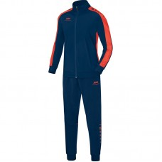 Jako Polyester tracksuit STRIKER night blue-flame 18