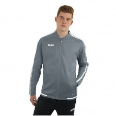 JAKO ladies leisure jacket Striker 2.0 stone gray-white