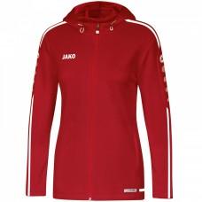 JAKO Ladies Hooded Jacket Striker 2.0 chili red-white