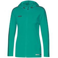 JAKO Ladies Hooded Jacket Striker 2.0 turquoise-anthracite