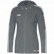 JAKO Ladies Hooded Jacket Striker 2.0 stone gray-white
