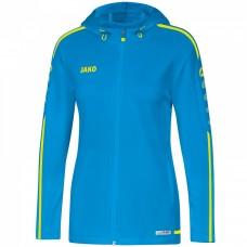 JAKO Ladies Hooded Jacket Striker 2.0 JAKO blue-neon yellow