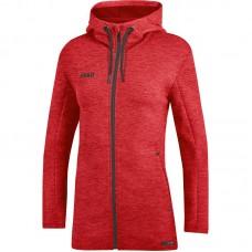 JAKO Ladies Hooded Jacket Premium Basics red
