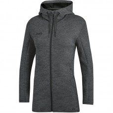 JAKO Ladies Hooded Jacket Premium Basics anthracite