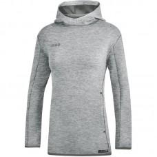 JAKO Ladies Hooded Sweat Premium Basics heather gray
