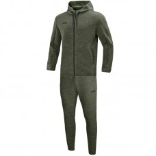 Jogging suit Premium Basics with hood khaki mottled