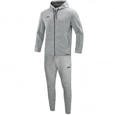 Jogging suit Premium Basics with hood mottled gray