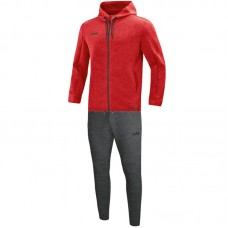 Jogging suit Premium Basics with hood mottled red