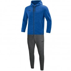 Jogging suit Premium Basics with hood royal mottled