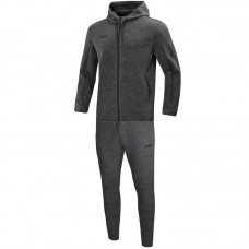 Jogging suit Premium Basics with hood anthracite meliert