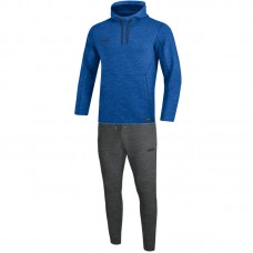Jogging suit Premium Basics with Kapuzenseat royal mottled
