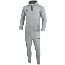 Jogging suit Premium Basics with hooded heather gray