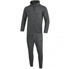 Jogging suit Premium Basics with hooded anthracite flecked