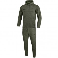 Jogging suit Premium Basics with Hooded Sweat khaki mottled
