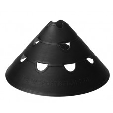 Jumbo Perforated Cones ø 30 cm single Black