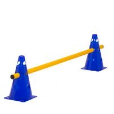 Cone Hurdle Single Hurdle Height 23 cm Blue