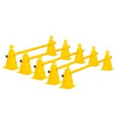 Cone Hurdles Set of 5 Colours Height 23 cm Yellow