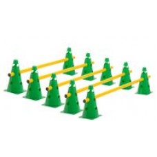 Cone Hurdles Set of 5 Colours Height 23 cm Green