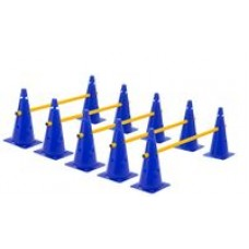 Cone Hurdles Set of 5 Height 38 cm Blue