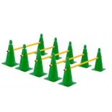 Cone Hurdles Set of 5 Height 38 cm Green