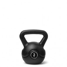Kettlebell (ball dumbbell) made of plastic - weight: 2 kg