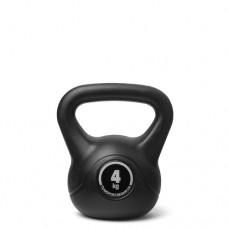 Kettlebell (ball dumbbell) made of plastic - weight: 4 kg