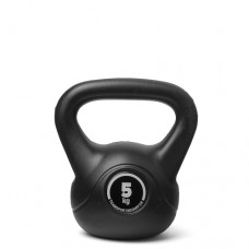 Kettlebell (ball dumbbell) made of plastic - weight: 5 kg