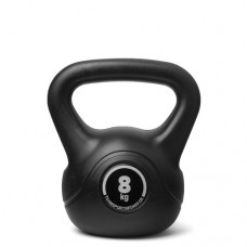 Kettlebell (ball dumbbell) made of plastic - weight: 8 kg