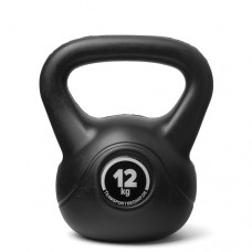 Kettlebell (ball dumbbell) made of plastic - weight: 12 kg