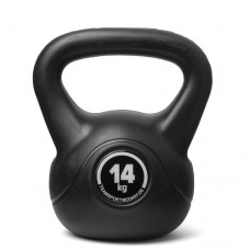 Kettlebell (ball dumbbell) made of plastic - weight: 14 kg