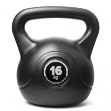 Kettlebell (ball dumbbell) made of plastic - weight: 16 kg