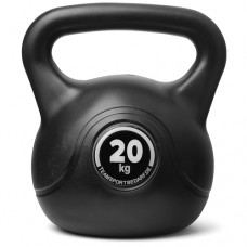 Kettlebell (ball dumbbell) made of plastic - weight: 20 kg