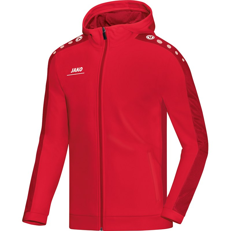 Hooded jacket Striker red 01